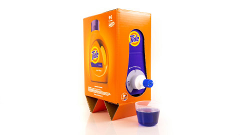 New Tide Eco-Box ships without bubble wrap or a secondary box, directly to your front door starting in January. (Photo: Business Wire)