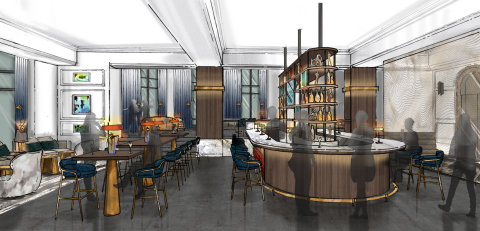Saint Kate The Arts Hotel Bar Rendering; To Open in Spring 2019 (Photo: Business Wire)