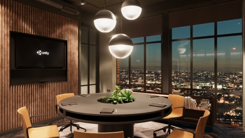 An image of Unity's London office, rendered in real-time in Unity (Graphic: Business Wire)
