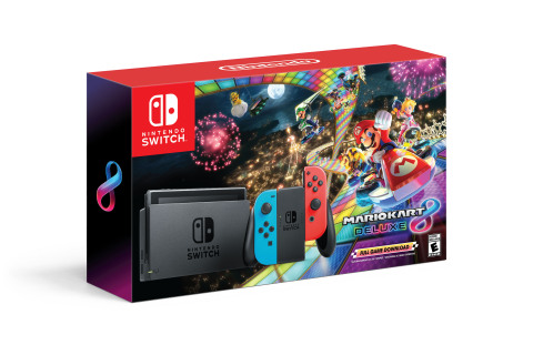 Starting on Black Friday Nintendo is offering deals on two awesome systems. This is a Nintendo Switch system with the hit Mario Kart 8 Deluxe game as a full game download at a suggested retail price of only $299.99. (Photo: Business Wire)