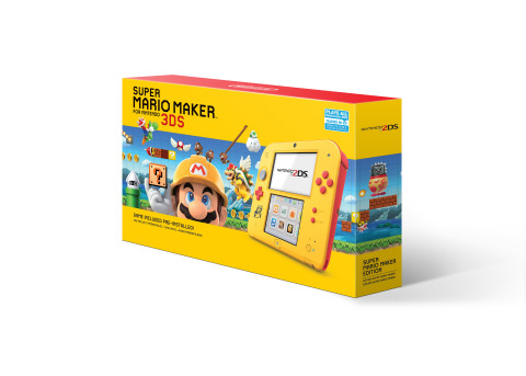 Starting on Black Friday Nintendo is offering deals on two awesome systems. This is a yellow-and-red Nintendo 2DS system with the Super Mario Maker for Nintendo 3DS game (a $40 value) pre-installed at a suggested retail price of $79.99. (Photo: Business Wire)