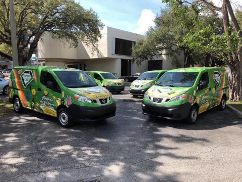 Diamond CBD's mobile fleet in South Florida (Photo: Business Wire)