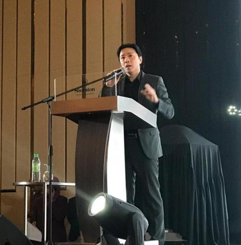 Fusionex Founder & Group CEO Dato' Seri Ivan Teh, who is also the PIKOM Leadership Summit 2018 Organizing Chairperson, delivering the opening address for the Summit held at Sheraton Petaling Jaya Hotel.