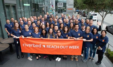 Riverbed employees at San Francisco HQ gather to kick off REACH OUT volunteer week that benefits ove ...