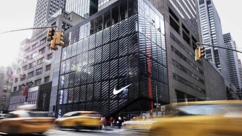 Nike opens its newest Nike House of Innovation as Nike NYC: a 68,000 sq. ft., six-level, cross-category premium Nike store at 650 Fifth Ave., in New York. (Photo: Business Wire)