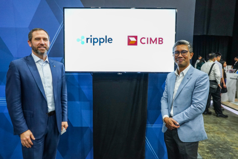 Ripple's CEO Brad Garlinghouse and CIMB Group's CEO Tengku Dato' Sri Zafrul Aziz celebrate their partnership. (Photo: Business Wire)