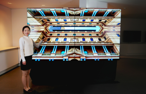 Samsung Display's New 'UHD Video Wall with 65-inch Panels' (Photo: Business Wire)