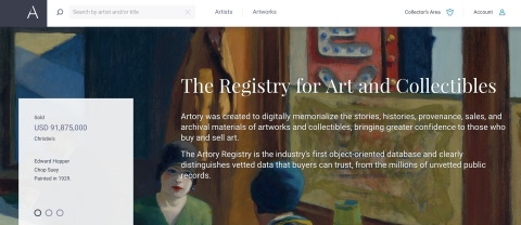 Artory Registry (Photo: Business Wire)