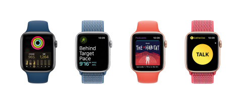 Apple Watch is a health and fitness companion with intelligent coaching features, and water resistance, that is now integrated with the UnitedHealthcare Motion wearable device program (Photo courtesy of Apple).