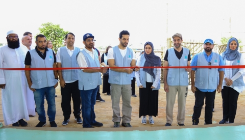 Sheikh Sultan bin Ahmed Al Qasimi, humanitarian envoy of the foundation and chairman of SMC inaugura ...