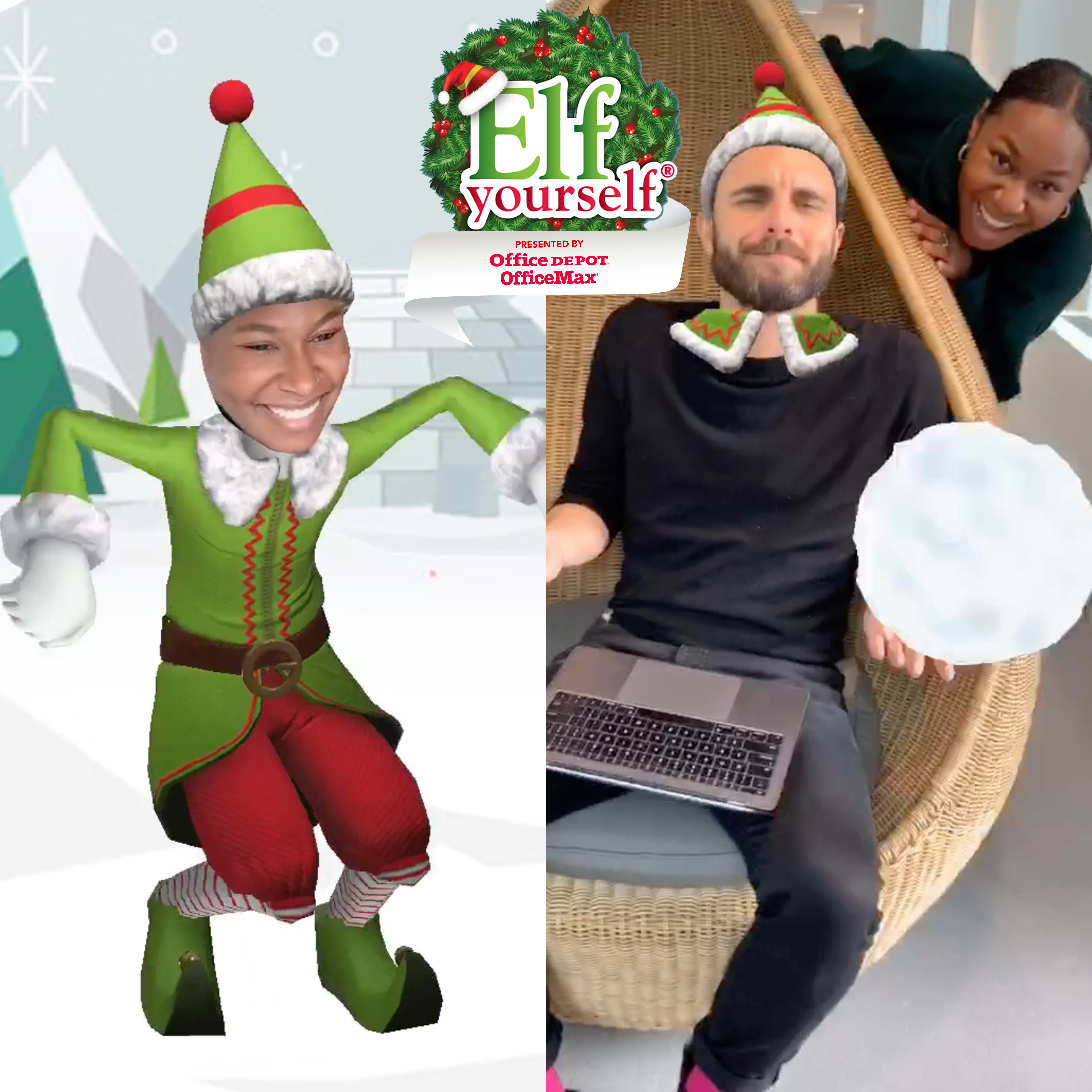 Elf Yourself. Elf Your Friends. Floss Like Only an Elf Can. Office ...