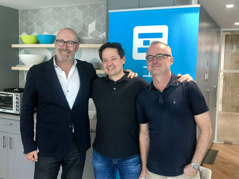 Left to right: Peter Burridge, global chief operating officer of Hyperwallet, Juan Benitez, general manager of Braintree, and Brent Warrington, CEO of Hyperwallet. (Photo: Business Wire)