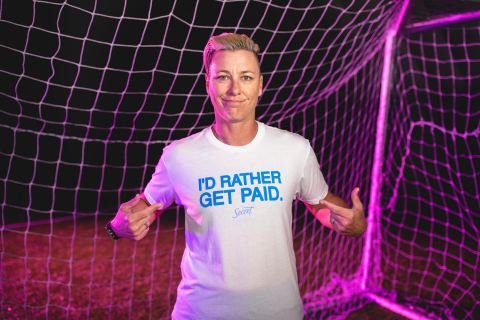 U.S. soccer legend Abby Wambach, partner in Secret's I'd Rather Get Paid campaign. (Photo: Business Wire)