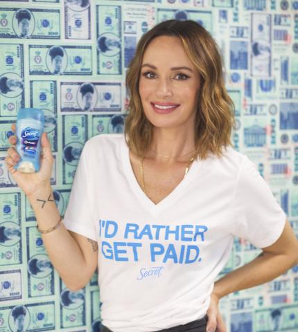 Journalist, activist and tastemaker Catt Sadler, partner in Secret's I'd Rather Get Paid campaign. (Photo: Business Wire)