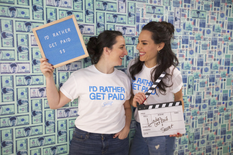 Ladies Get Paid co-founders, Claire Wasserman and Ashley Louise, partners in Secret's I'd Rather Get Paid campaign. (Photo: Business Wire)