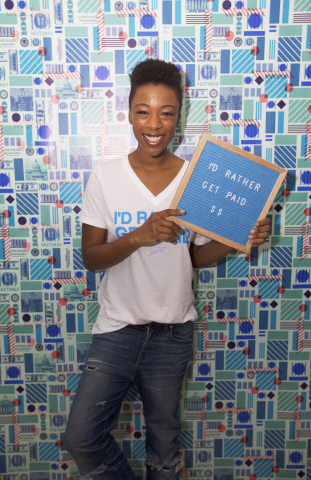 Actress Samira Wiley, partner in Secret's I'd Rather Get Paid campaign. (Photo: Business Wire)