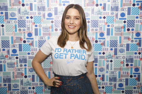 Actress and Activist Sophia Bush, partner in Secret's I'd Rather Get Paid campaign. (Photo: Business Wire)