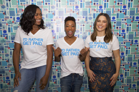 Swin Cash, Samira Wiley and Sophia Bush, partners in Secret's I'd Rather Get Paid campaign. (Photo: Business Wire)