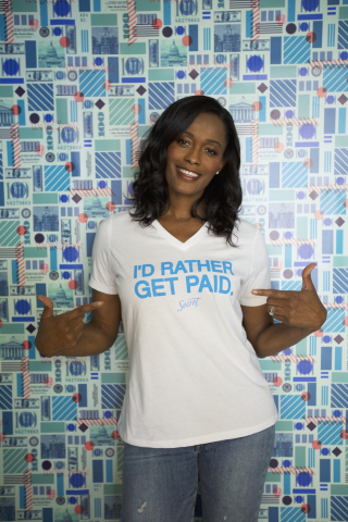 2x Olympic Gold Medalist and 3x WNBA Champion Swin Cash, partner in Secret's I'd Rather Get Paid campaign. (Photo: Business Wire)