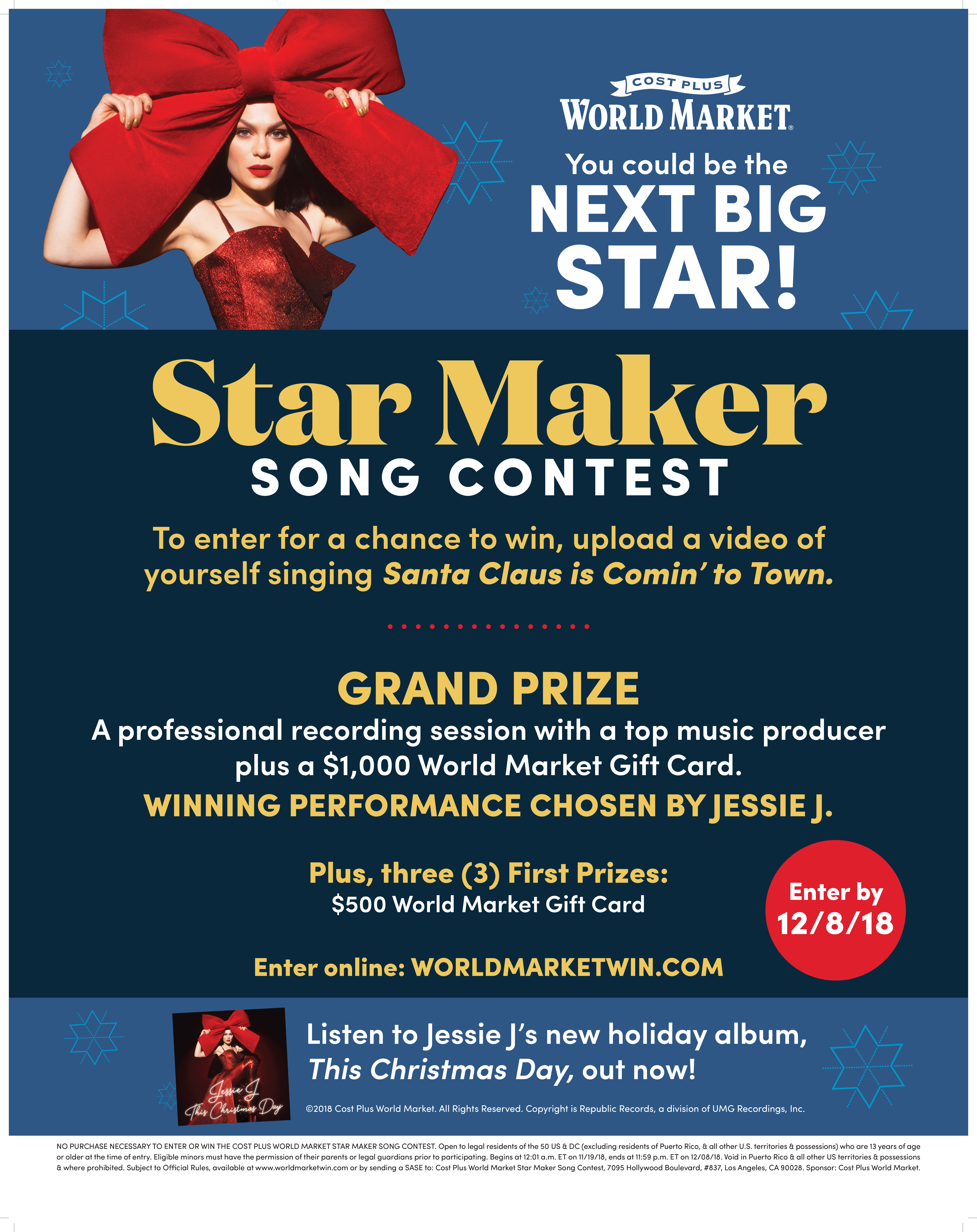 Cost Plus World Market Launches Its Star Maker Song Contest With ...