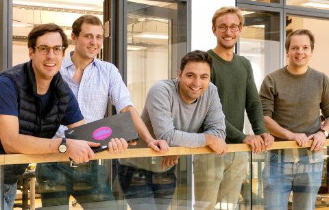 Left-right: Fritz Trott (Co-Founder/CEO), Arvid Seeberg-Elverfeldt (CFO), Cihan Aksakal (Co-Founder/CTO), Frederik Fahning (Co-Founder/CLO), Cornelius von Rantzau (COO) (Photo: Business Wire)