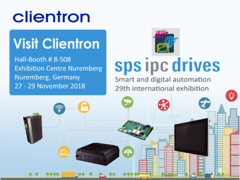 Clientron to exhibit its brand new intelligent embedded systems at SPS IPC Drives 2018 (Photo: Busin ...