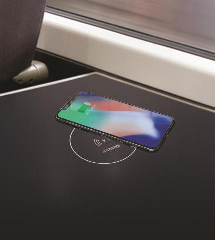 The Aircharge - Baker Bellfield mobile phone wireless charging solution for trains (Photo: Business  ...