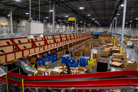 DHL eCommerce's fully automated distribution center. (Photo: Business Wire)