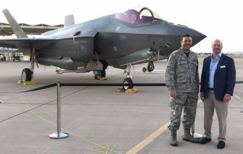 Luke Air Force Base names Perfect Water Technologies, Inc. president Jon Sigona as an Honorary Base Commander to the 56th Fighter Wing in Phoenix, AZ. (Photo: Business Wire)