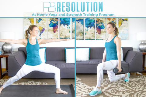 PB Resolution is a 12-week digital yoga and strength training program. (Photo: Business Wire)