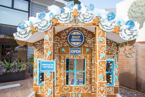 Life-size Shop Small gingerbread shop created by Jennifer Duncan of CAKE to celebrate Small Business Saturday in Mission Hills, San Diego. (Photo: Business Wire)