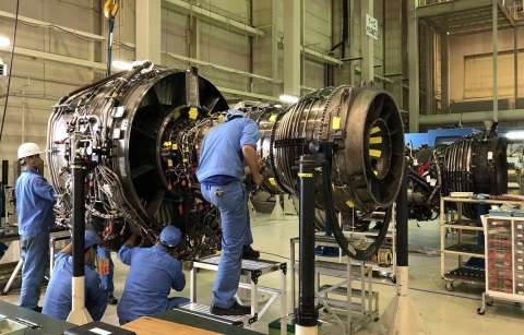MRO of aero engines currently in progress in MHIAEL (Photo: Business Wire)