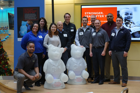 Members of the WGL Energy team visit Children's National hospital in Washington, D.C. to kick off th ...