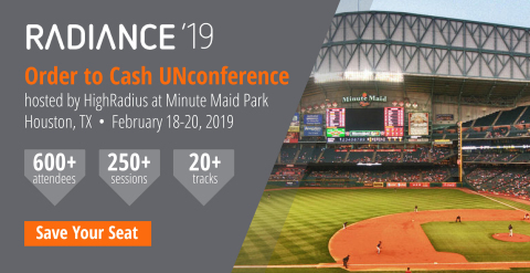 HighRadius announces its Radiance 2019 Order to Cash Innovation Conference. (Graphic: Business Wire)