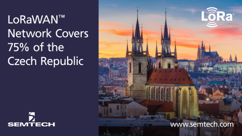 Semtech and CRA Deploy LoRaWAN-based Network Reaching 75% of the Czech Republic (Photo: Business Wir ...