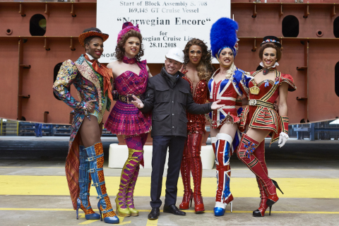 Norwegian Cruise Line Announces Tony Award-Winning Kinky Boots As Headlining Entertainment on Norwegian Encore at Ship's Keel Laying Ceremony (Photo: Business Wire)