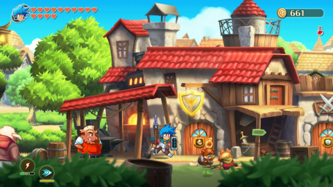 The Monster Boy and the Cursed Kingdom game is available Dec. 4. (Photo: Business Wire)