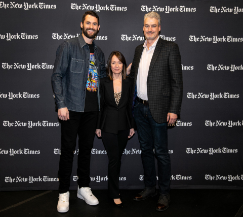 On Thursday, November 29, five-time All-Star NBA Champion, Kevin Love shared his personal mental health journey at The New York Times's Get With The Times event, supported by the U.S. HBC Foundation at Tufts University in Boston. Credit: Kayana Szymczak (Photo: Business Wire)