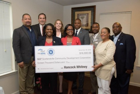 Scotlandville Community Development Corporation received $16,000 Partnership Grant Program award from the Federal Home Loan Bank of Dallas and Hancock Whitney. (Photo: Business Wire)