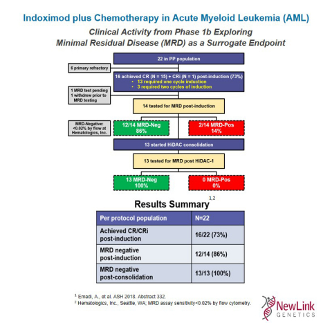 Indoximod plus Chemotherapy in Acute Myeloid Leukemia (AML) (Graphic: Business Wire)