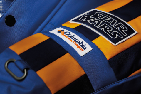 Close up of the Star Wars™: Empire Crew Parka showcasing the shoulder stripes for heightened visibility in blizzard conditions. (Photo: Business Wire)