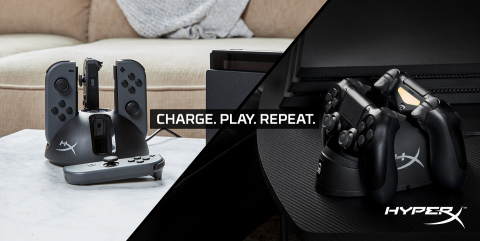 HyperX Expands Gaming Accessory Lineup with ChargePlay Charging Stations. (Graphic: Business Wire)