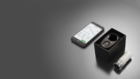 NuvoAir Air Next Spirometer and the Aria App (Photo: Business Wire)
