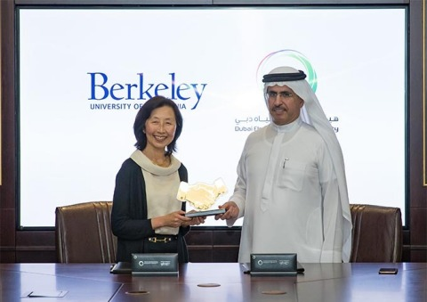 From left: Dr. Diana Wu, Dean of UC Berkeley Extension, and HE Saeed Mohammed Al Tayer, M.D. and CEO ...