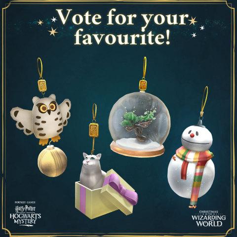 Гарри Поттер: Тайна Хогвартса приглашает игроков украсить залы Волшебного мира в честь Рождества (Графика: Business Wire)