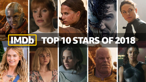 IMDb Top Stars of 2018, as determined by page views. IMDb is the #1 movie website in the world. (Photo courtesy of IMDb)