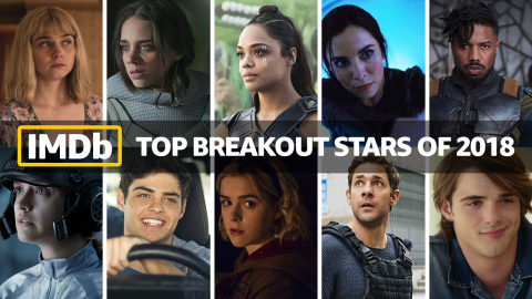 IMDb Top Breakout Stars of 2018, as determined by page views. IMDb is the #1 movie website in the world. (Photo courtesy of IMDb)