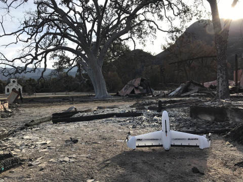 AeroVironment's simple & powerful drone Quantix drone and Decision Support System to aid the National Park Service recovery efforts from So. Cal Woolsey Fire (Photo: Business Wire)