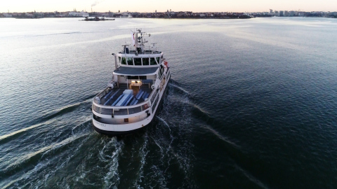 Ice-class passenger ferry Suomenlinna II was remotely piloted through test area near Helsinki harbor ...