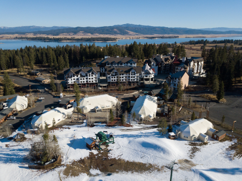 Tamarack Resort's Village Plaza in Donnelly, Idaho. (Photo: Business Wire)